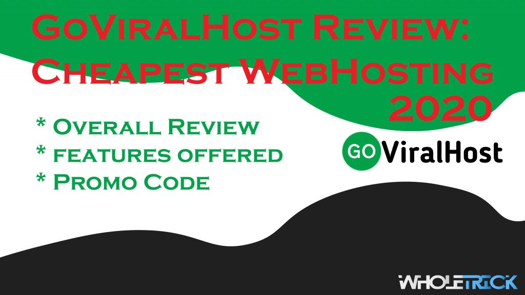 GOVIRALHOST REVIEW CHEAPEST WEBHOSTING 2020